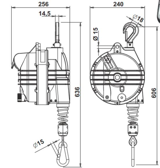 Балансиры TECNA 9370-9371 (75-105 кг)