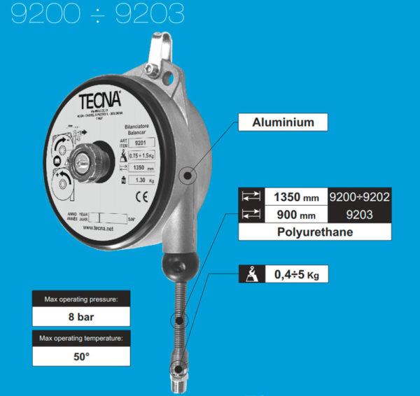 Балансиры TECNA 9200-9203 (подача сжатого воздуха)