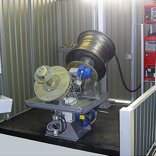 Двухпозиционная установка АС339 для сварки кольцевых швов (автомобильных колес)