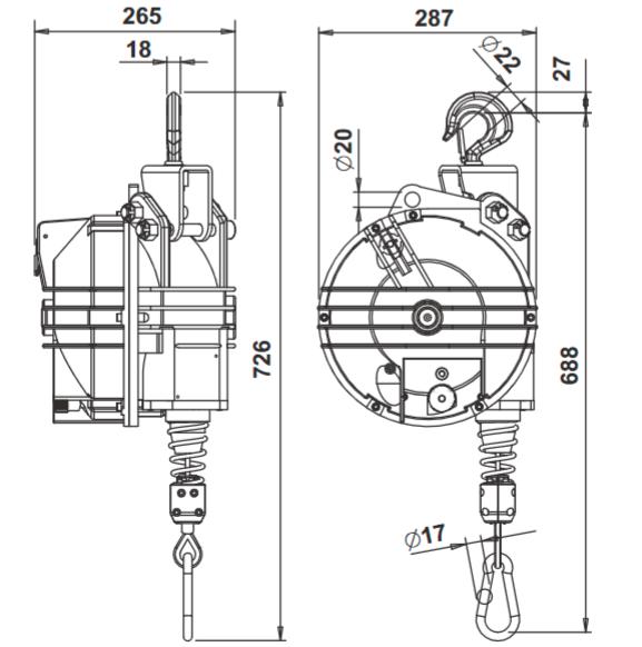 Балансиры TECNA 9411-9414 (60-100 кг)