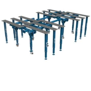 Раздвижной модульный сварочный стол с увеличенной площадью